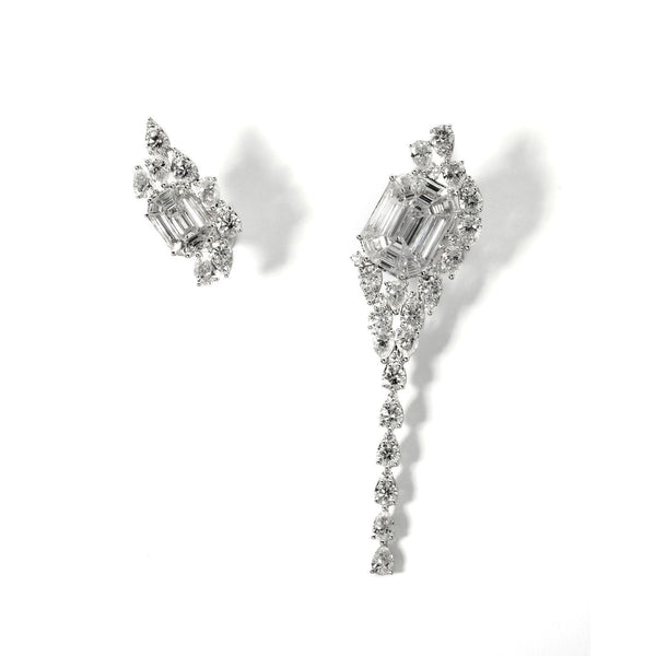 Illusion-Asymmetrical-Diamond-Dangling-Earring