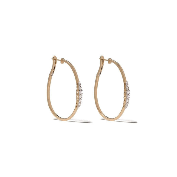 Icicle Diamond 45mm Hoop Earrings