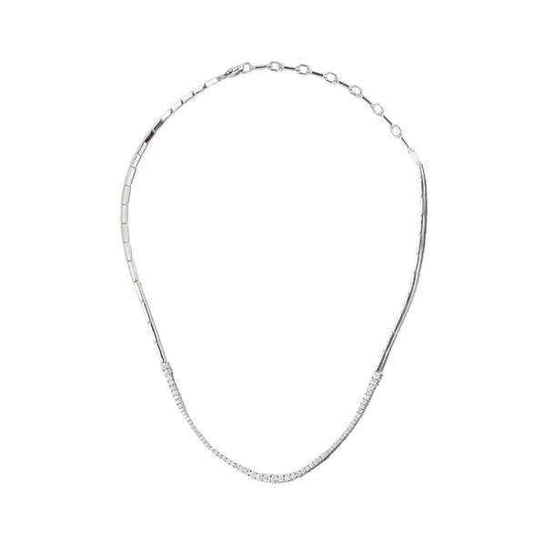 Icicle Diamond Round Necklace