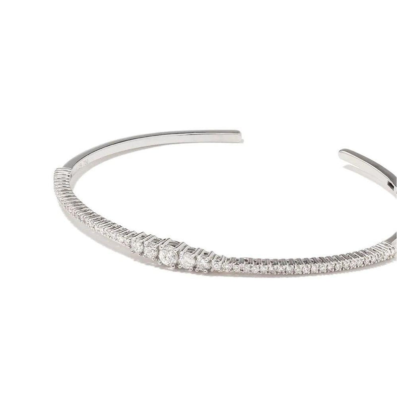 Icicle Pave Diamond Bangle