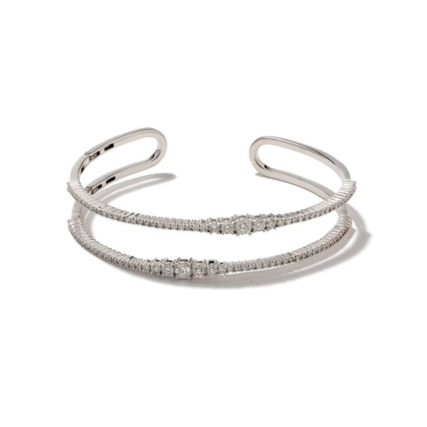 Icicle Diamond Double Bangle