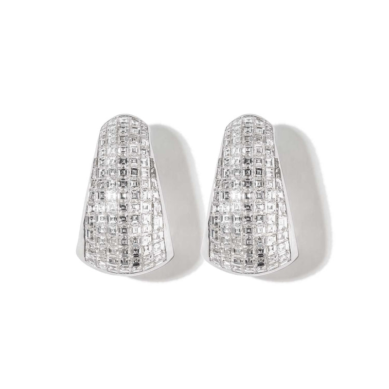AS29 Bombee Pave Earring in White Gold