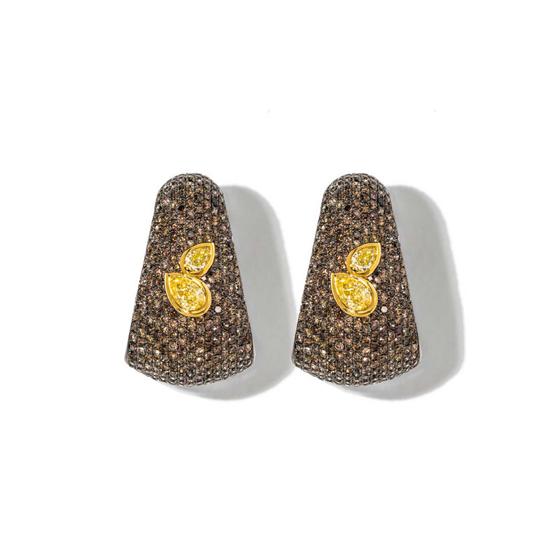 AS29 Bombee Earring in Black and Yellow Gold