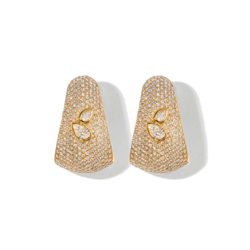 AS29 Bombee Pear Earring in Yellow Gold