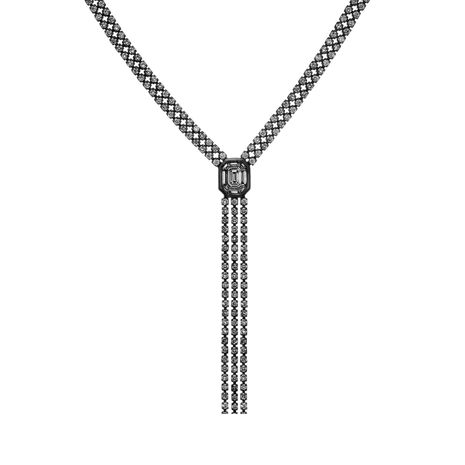 Venus Illusion Long Diamond Necklace