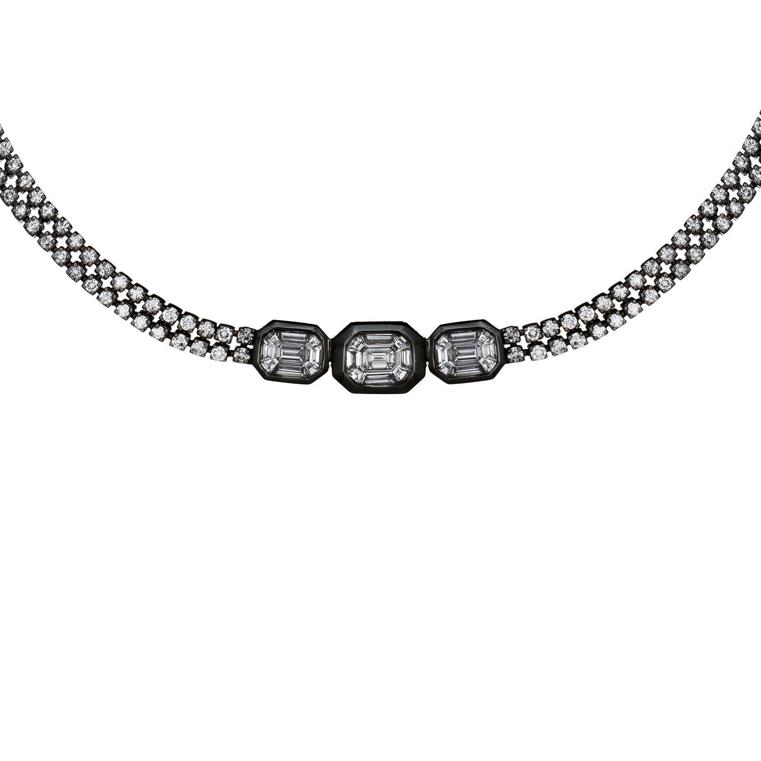 Venus Illusion Round Diamond Necklace