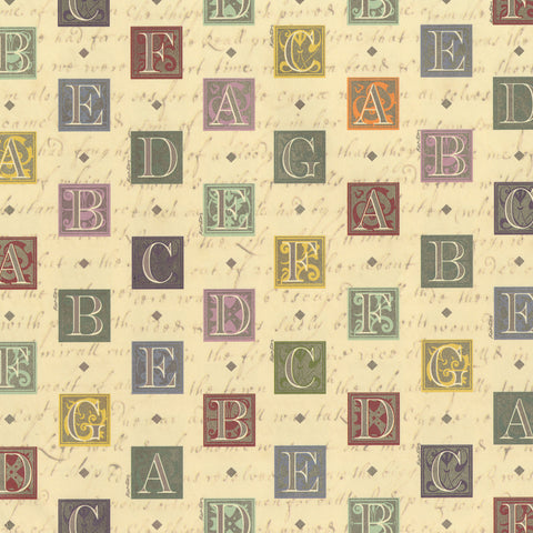 Elegant Alphabet Wrapping Paper