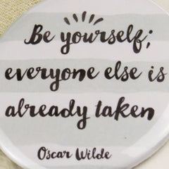 Oscar Wilde Pocket Mirror