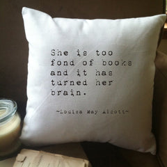 Louisa May Alcott Pillow Cover