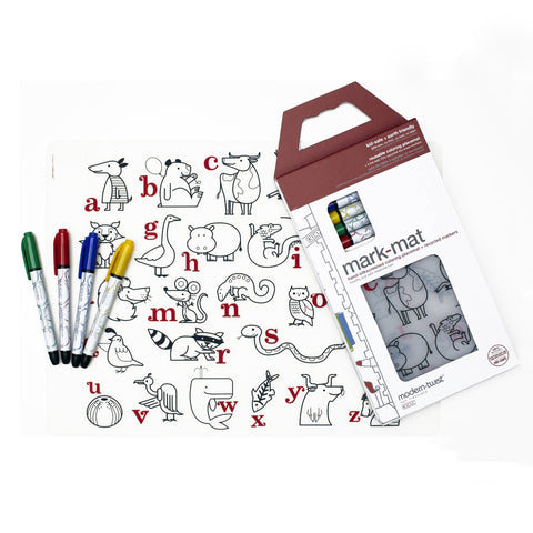 Reusable ABC Placemat & Markers