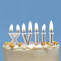 Roman Numerals Birthday Candles