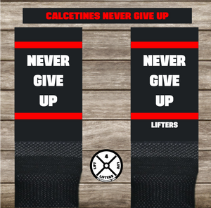 Calcetines NEVER GIVE UP BLACK/RED