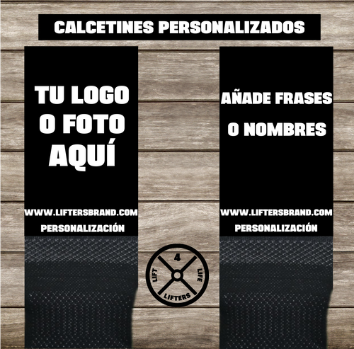 CALCETINES PERSONALIZABLES PIE NEGRO