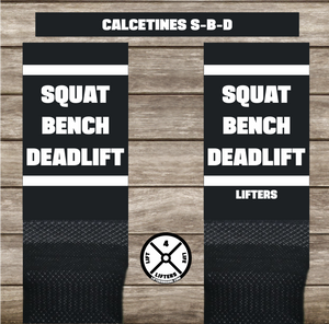 Calcetines SQUAT-BENCH-DEADLIFT BLACK/WHITE