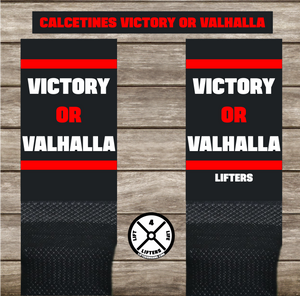 Calcetines VICTORY OR VALHALLA BLACK/RED