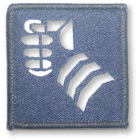 TRF - 20 Armoured Brigade - White Fist on Navy - 50 x 50mm - Pack of 5