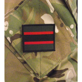 TRF - The Rifles - 60mm x 50mm  Green/Black/Red Stripes - Pack of 5