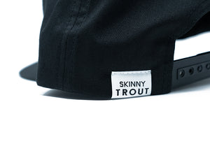 Skinny Trout Flat Bill (Black)