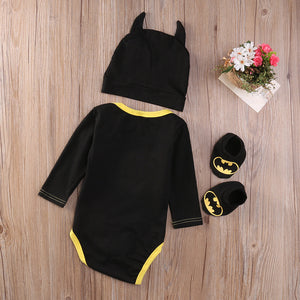 3 pieces Batman Rompers
