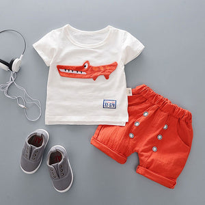 Baby Boy Comfortable Crocodile Summer Set