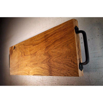 French Oak Charcuterie Board with Roasted Oak legs. - Todd Alan Woodcraft