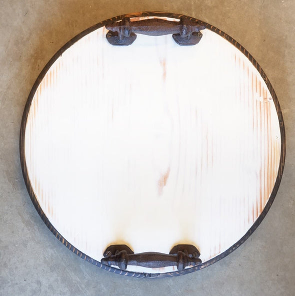 Antique White Milk Paint Round - Todd Alan Woodcraft