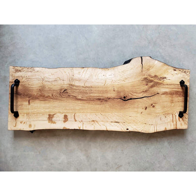 Charred Live Edge Oak Charcuterie board - Todd Alan Woodcraft