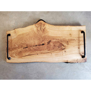 Charred Live Edge Oak Serving Board - Todd Alan Woodcraft