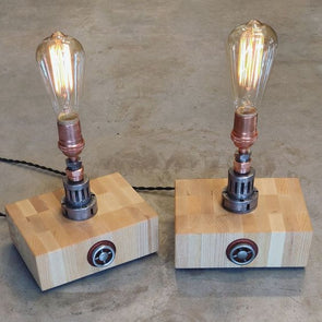 Copper and Steel Edison lamps. - Todd Alan Woodcraft