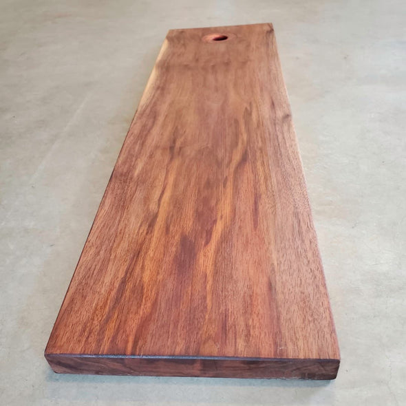 Figured Walnut with Copper Ring Serving Board - Todd Alan Woodcraft