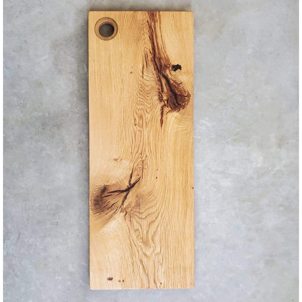 Normandy Oak Serving Board w/ Clear Epoxy Handle - Todd Alan Woodcraft