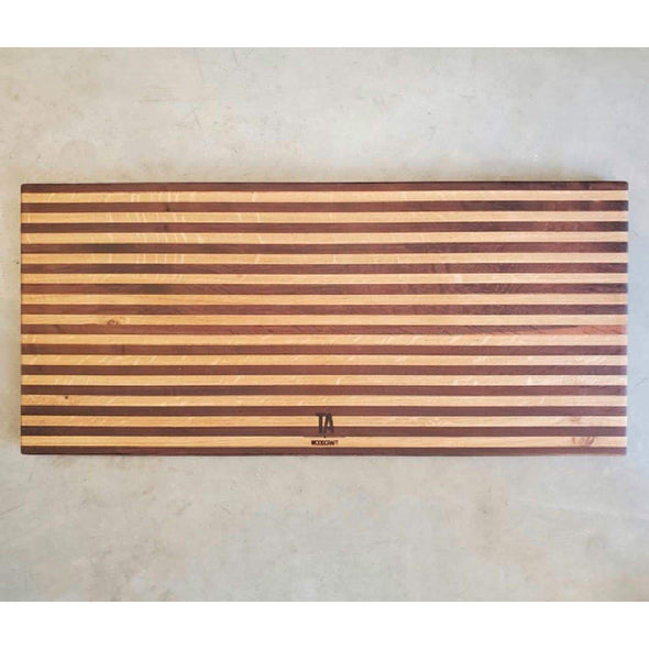 French Roasted Oak Pin Striped Board - Todd Alan Woodcraft