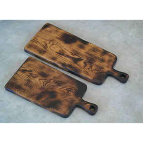 French Oak Blackened Boards with Handle - Todd Alan Woodcraft