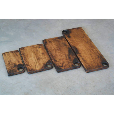 French Oak Blackened Hand Hole Boards - Todd Alan Woodcraft