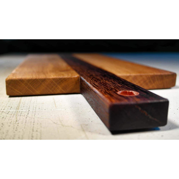 French Roasted Oak Copper Sleeve Serving Board - Todd Alan Woodcraft