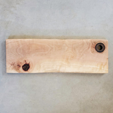 Madrone W/ Black Ring Epoxy Handle Serving Board