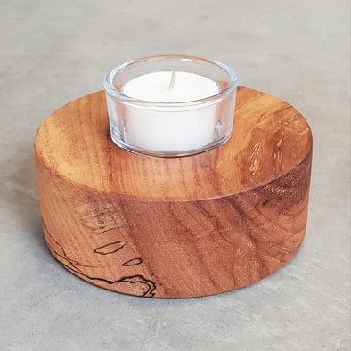 """Puck"" Style Tealight Candle Holders - Todd Alan Woodcraft"