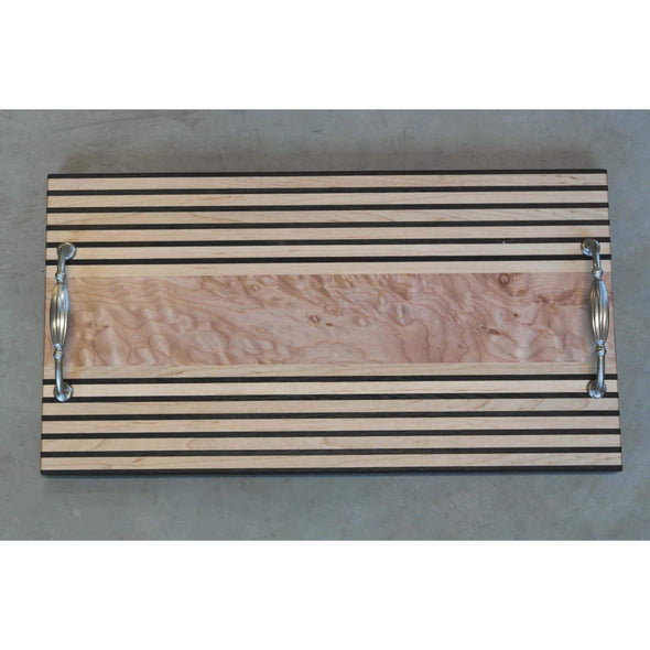 Maple & Wenge Pinstripe Serving Tray - Todd Alan Woodcraft