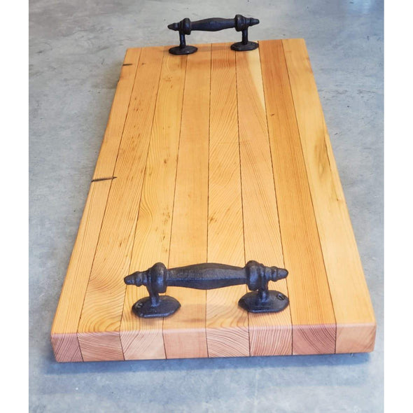 Chunky Iron Handled Reclaimed Fir Serving Boards - Todd Alan Woodcraft
