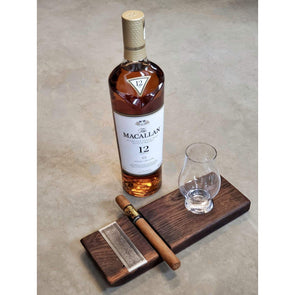 Roasted Oak Cigar & Whiskey Board - Todd Alan Woodcraft