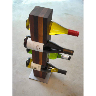 Reclaimed Wood Wine Tower - Todd Alan Woodcraft