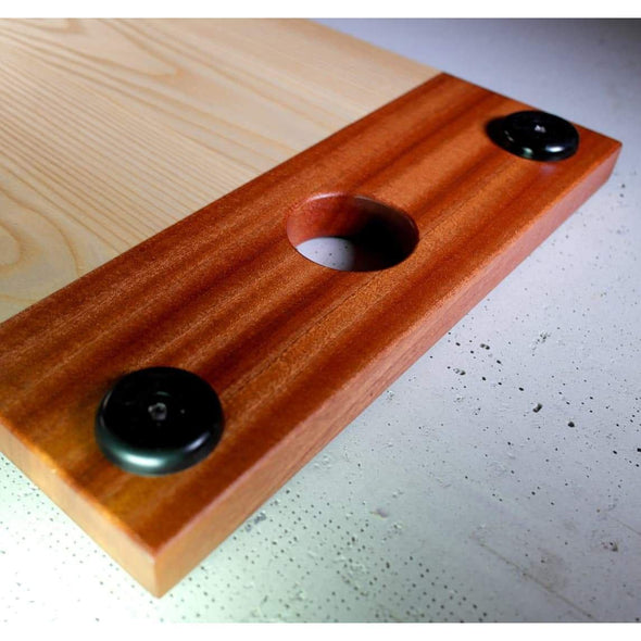 Sapele and Ash Serving Board w/ Round Handholds. - Todd Alan Woodcraft