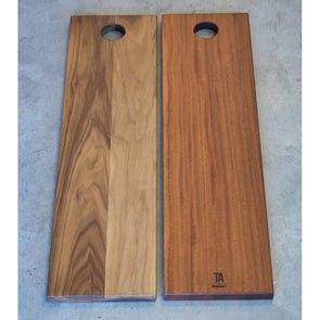 Sapele and Walnut Modern Simple Boards - Todd Alan Woodcraft