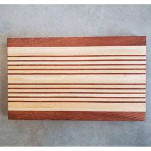 Sapele and Ash Cutting Board - Todd Alan Woodcraft