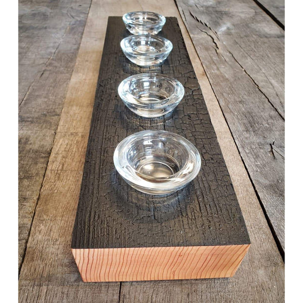 Shou Sugi Ban Deep Char Fir Candle Holders