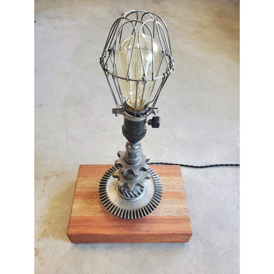 Spider Gear Lamp w/Cage on Jatoba Base - Todd Alan Woodcraft