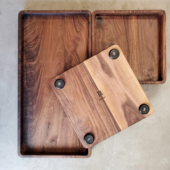 The Squared Walnut Serving Set - Todd Alan Woodcraft