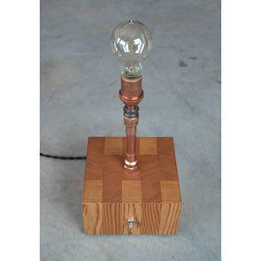 Copper and Vertical Grain Fir accent lamp - Todd Alan Woodcraft