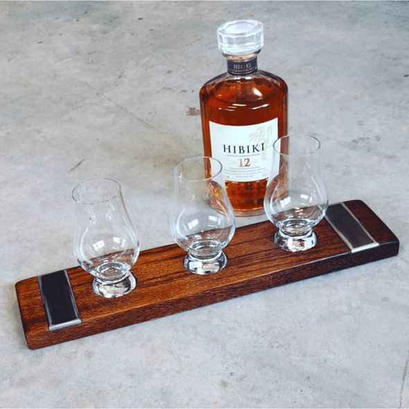 Whiskey and Bourbon flight boards - Todd Alan Woodcraft