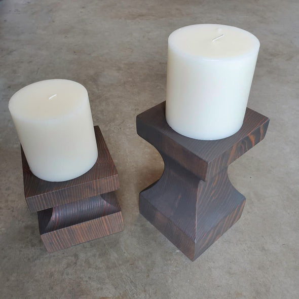 Vertical Grain Fir Pillar Candle Holders - Todd Alan Woodcraft